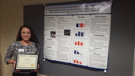 PT Senior Jamie Kronenberg at Whalen Symposium