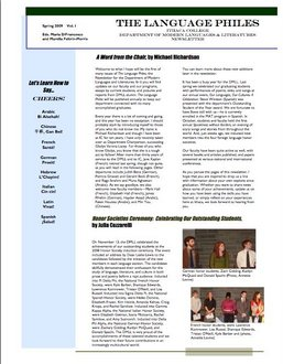 Page 1 of the 2008-2009 DMLL Newsetter