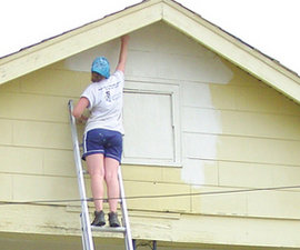Painting houses in New Orleans.