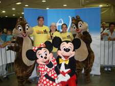 Photo of Alumni and Disney Chracters