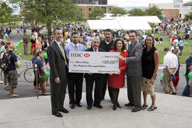 Photo of HSBC presenting check