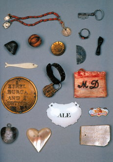 Picture courtesy of the Foundling Museum. These are examples of Tokens that mothers would leave with their children when they were given to the Coram