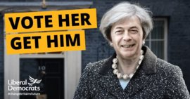 Poster, The Liberal Democrats, United Kingdom, 2017