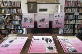 Posters showing the history of the women's suffrage movement in New York State