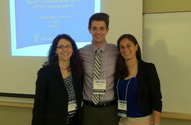 Presenting at the Association of Teacher Educators Conference with graduates Robert Hohn '14 and Rebecca Lewis '14.
