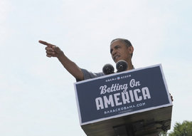 President Obama Speaking in Maumee, Ohio (July 5, 2012) (Photo: Susan Walsh/AP)
