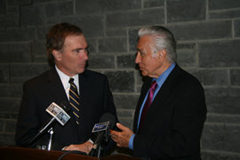President Rochon and Maurice Hinchey