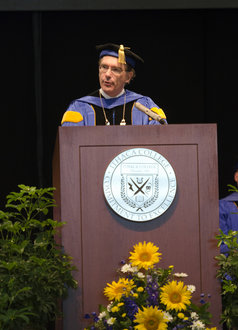 President Tom Rochon will deliver the main address at the annual Convocation ceremony.