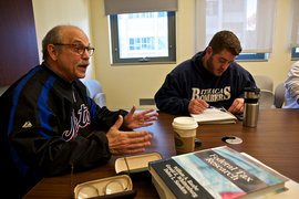 Professor Alan Cohen teaches an accounting class.
