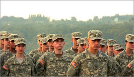 ROTC members in training