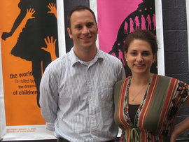 Rachel Messeck '11 and Tim Plant, development director, Woolly Mammoth Theatre