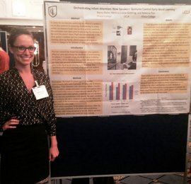 Rebecca Post, who recently earned her degree in applied psychology from Ithaca College, presented the research findings.