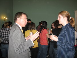 Reception with students at the London Center