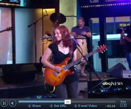 "Revi Roza '09 and The Rozatones performing on ""Good Morning America"""