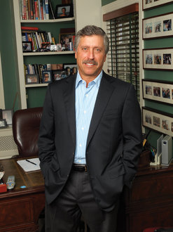 Rick Roth '76 at his home office in Mamaroneck, New York