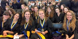 SLP Graduate students at the 2015 Graduate Hooding Ceremony