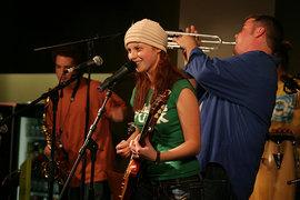 Sam Podell '07, Revi  Roza '09, Mikey Conerty '09 of The Rozatones.