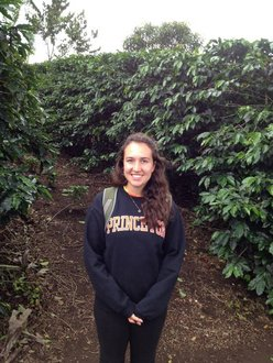 Sarah Harty '14 at a Costa Rican tobacco plantation