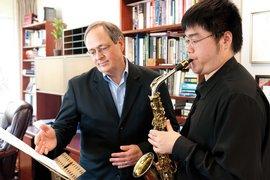 Saxophone professor Steve Mauk