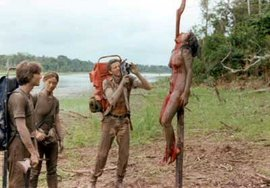 "Screenshot from Ruggero Deodato's ""Cannibal Holocaust"" (1980)"