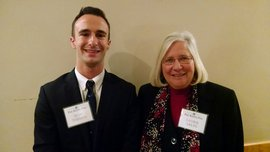Sean Themea & Laurie Arliss at the 2015 Phi Kappa Phi reception. Sean received the John Bernard Presidential Scholarship.
