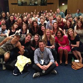 Seth Meyers during his Q&A with Ithaca College students.