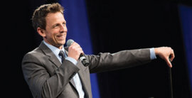 Seth Meyers performs at IC's A&E Center