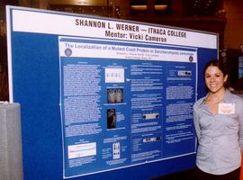Shannon Werner presenting her results at Pfizer Global Research and Development, October 2002.