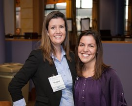 Shayna Dunitz '13 and Stephanie Hogan '13, members of the IC Annual Fund Young Alumni Committee