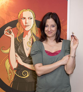 Shelly with her avatar of Astrid Bellagio