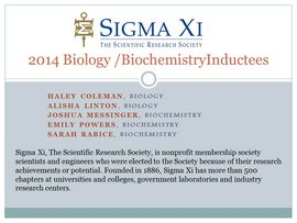 Sigma Xi Inductees 2014