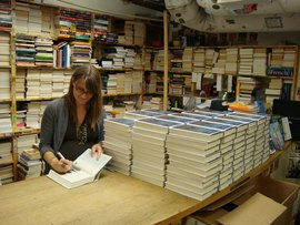 Signing copies for the Harvard Book Store first editions club, June 2011
