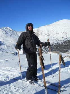 Ski touring in the Colorado Rockies