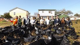Some of our scholars spent two days clearing a large lot where a home used to be.