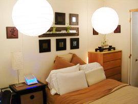 Sophomore Matthew Rivera's dorm room. Wow!