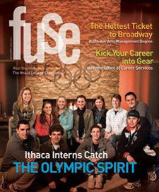 Spring 2010 Fuse cover, with Ithaca interns at the Olympics