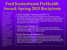 Spring 2015 Recipients