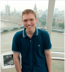 Stephen Briggs headshot was taken from the London Eye during his time studying abroad last semester.