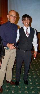 Stephen Burke '13 with Park Distinguished Visitor James Carville