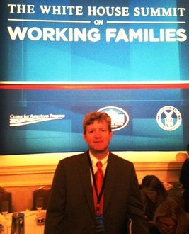 Stephen Sweet, associate professor and chair of the Department of Sociology, participated in the White House Summit on Working Families.