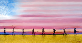 "Steve Alpert's Painting ""Legacy"" depicts soldiers from eight U.S. wars"