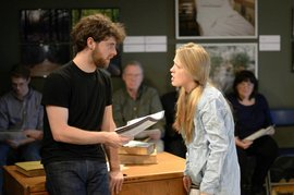 Student Actors play Thomasina Coverly and Septimus Hodge in the 2012 production of Arcadia