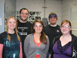 Student Researchers in the Hunting lab group