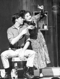 Students act in the 1963 production of Run Twice as Fast