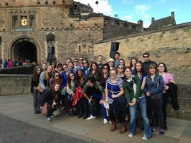 Students at Edinburgh Castle - 2013