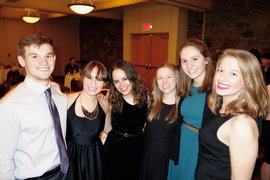 Students at the 2014 Sigma Tau Delta reception