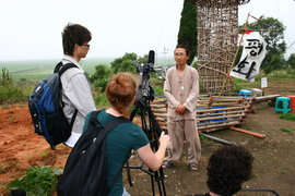 Students filming in Korea