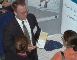 Students get information at a college event