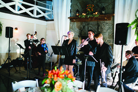 Students in the Wedding Band class perform at a Lakewatch Inn wedding celebration. Photo by Craig Griffin Photography.