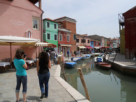 Students visiting Venice, Italy